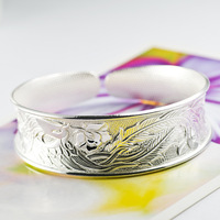 1 Piece Free Shipping Hot sale phoenixes Fine 999 silver as a gift silver Bangle fashion jewelry