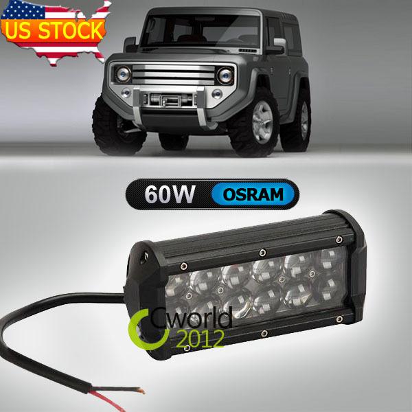Система освещения OEM 7/osram 60W 12V 24V 4 X 4 SUV ATV Offroad система освещения x star 21 100w cree offroad 12 24