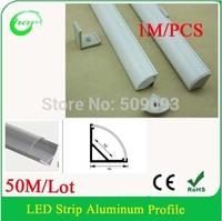 50M/Lot V Shape 1616 led aluminium profile corner led  for 10mm PCB board led bar light