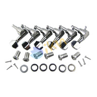 Chrome Tuning Pegs 6-in-line Machine Heads for Guitars
