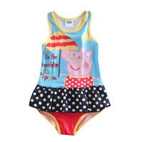 girls peppa pig swimsuite new 2014 summer peppa pig swimsuit for girls nova brand children swimwear kids bikini set R5002