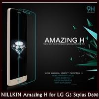 NILLKIN Amazing H Nanometer Straight Cutting Anti-ExplosionTempered Glass for LG G3 Stylus D690 +30 pcs/lot DHL Free shipping