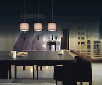 Modern Minimalist Metal Crystal Lamps, High-grade Fabric Lampshade Chandelier, Stylish Bar Restaurant Pendant lamp