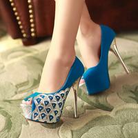 2014 female shoes fashion shoes open toe pumps thin high heels shoes platform women pumps heels shoes free shipping WS026