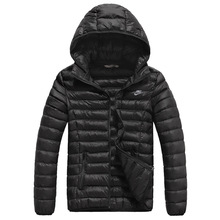 High Quality Warm Winter Brand Men Down Jacket New 2014 Fashion Lovers Hooded Jacket Sport Parka Outerwear Overcoat L-4XL(China (Mainland))