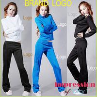 Free Shipping 2015 Sweatshirt Women Sport Suit Women Brand Active Hoodies Clothing Coat+Pants 2 pcs Set Lady Casual Sports Wear