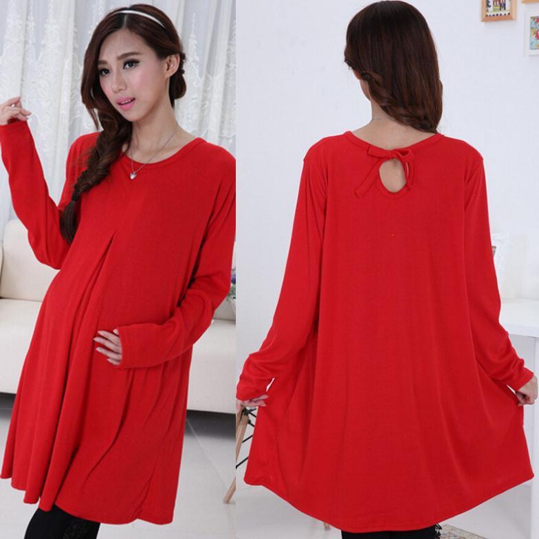 Осеннее платье для беременных 29
