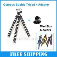 Digital Mini Flexible Camera Tripod Octopus Bubble Tripod with Mount Adapter Stand Holder for Caon Nikon Sony Gopro Hero 4 3
