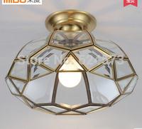 Fashion copper lamp ceiling light copper lamp balcony entranceway aisle lights bathroom lighting
