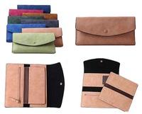 2015 New Fashion Women's Dull Polish Leather Wallet Multifunction Day Clutch Purse Handbags Carteira Feminina free shipping