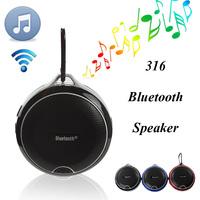Waterproof Speakers IPX4 YM-316 Bluetooth Mini Speaker Sports Hook TF Card Slot Wireless Microphone for iPhone  Air2 HTC