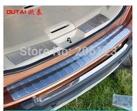 3 pcs Car Styling Rear Bumper Inside Door Sill Plate Scuff For Nissan X-Trail 2014 3 pcs