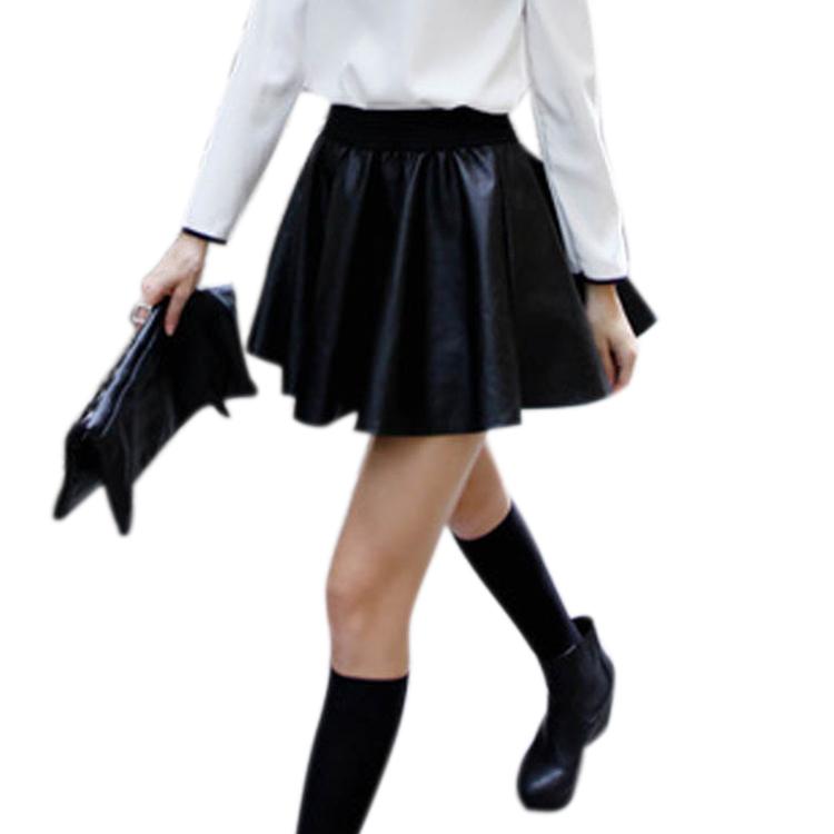 Зимняя черная юбка