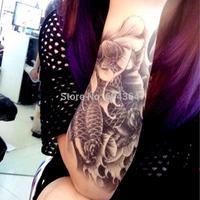 1pc/lot/AX30,Temporary Hand Tattoo/Fish VS Lotus VS Water/waterproof Big size fake tatoo sticker art/Arm,Armband,shank,belly