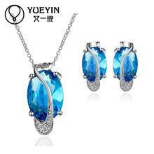 FVRS014 2015 new fine jewelry sets Extravagant Party jewlery set for lady Fashion Big Crystal set