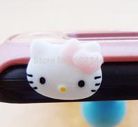Free Ship 100pcs 3.5mm Headset 3D Cartoon Earphone Anti Dust Plug Dustproof Ear Cap for Cell Phone iPhone 4 4S 5 5S 6 6S