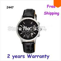 New AR2447 2447 Quartz Chronograph mens Watch Japan Movement Gents Wristwatch