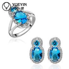 FVRS035 2015 new fine jewelry sets Extravagant Party jewlery set for lady Fashion Big Crystal set