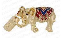 Jewelry crystal pen drive great Elephant necklace model USB flash drive 2.0 Pen memory U disk 4GB 8GB 16GB 32GB