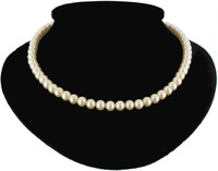 Jewelr 004116 7Mm Faux Pearl Strand Necklace