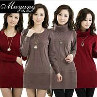 Sheep autumn and winter fashion plus size sweater women's basic sweater female medium-long cashmere sweater female