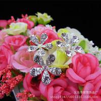 tion hair hairpin type U flash disk drill Bob bride essential head ornaments elegant atmosphere crystal flower headdress