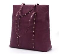 Free ship HOT Atmospheric fashion rivets handbag shoulder bag shopping bag lady