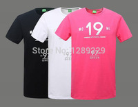 Cheap Men's Bos Solid Brand Short T-Shirts Letter Print 100% Cotton Casual Tees Fashion Embroidered Logo Workout O-neck Shirts