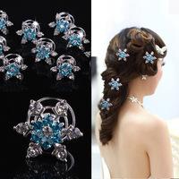 fashion jewelry bride's hair accessories snowflake  screw clamp snow romance hair