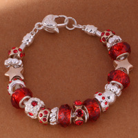 925 Sterling Silver Bracelet Snake Chain Screw European Silver Charms Beads  /gglaoxsa gtxaplea PH007