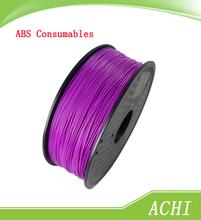 purple color 3d printer filaments ABS 1.75mm1kg plastic Rubber Consumables Material MakerBot/RepRap/UP/Mendel