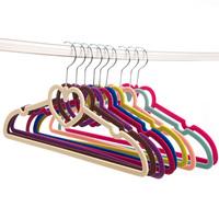 Quality printing flock hanger racks stainless steel scarf wardrobe rack clothes hanging