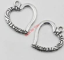 10pcs Mixed Tibetan Silver Plated Cupid Heart I Love You Jesus Charms Pendants Jewelry Making DIY