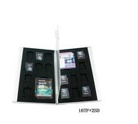 (2SD+16TF) Aluminum Memory Card Holder Case SD MicroSD Memory card