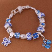 925 Sterling Silver Bracelet Snake Chain Screw European Silver Charms Beads  /ggmaoxta gtyaplfa PH008