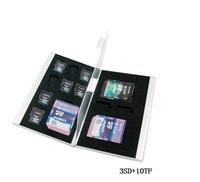 Aluminum Memory Card Holder Case SD MicroSD Memory card (3SD+10TF)