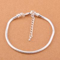 925 Sterling Silver Bracelet Snake Chain Screw European Silver Charms Beads  /gggaoxna gtsapkza PH002