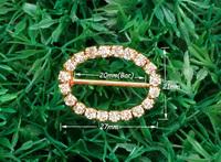20mm inner bar,20pcs/lot  Craft Buckle Diamante Rhinestone DIY party Wedding Ribbon gold Buckle Bridal Invitation Supplies A14