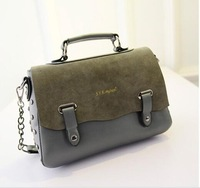 New Arrivel High Quality Chains Rivet Women Handbags Tote Vintage Small Shoulder Bag For Grils Pu Leather Bag Free Shipping