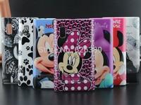 Fashion Mickey Minnie Mouse Eiffel Tower Plastic Phone Back Hard Cover For LG optimus L5 E610 E612 case