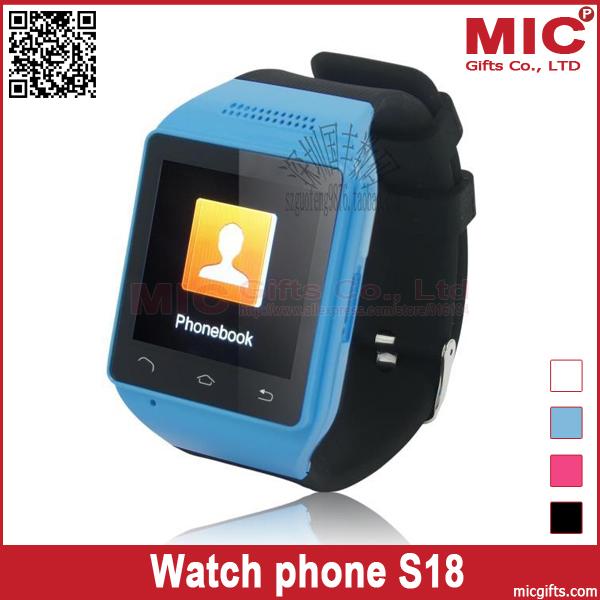 "1.54"" Quad Band WAP FM Watch wristwatch phone cellphone S18 P284(China (Mainland))"