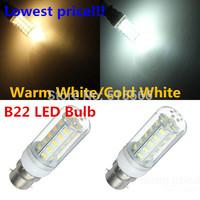 Led Light B22 5730 220V Corn Bulbs 5730SMD 36LEDs Ultra bright Lamps Max 12W Energy Efficient Lighting 6pcs/lot