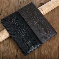 5pcs/lot New 100% Genuine leather brand women wallets 14colors Crocodile 3D purse wholesale fashion leather wallets hot selling
