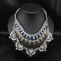 Wholesale Brand Jewelry Fashion Perfume Women Accessories Handmade Bijoux Custume Luxury Statement Choker Necklace