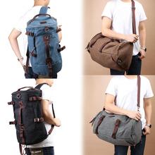 S1M#  Men Vintage Canvas Backpack Rucksack Laptop Shoulder Outdoor Duffle Bag(China (Mainland))