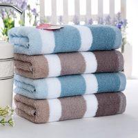 100% cotton stripe towel comfortable washouts 1 male