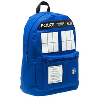 Doctor Who Tardis backpack Energy fashion men women laptop vintage casual travel sport mochila canvas  Buckle Slouch backpack