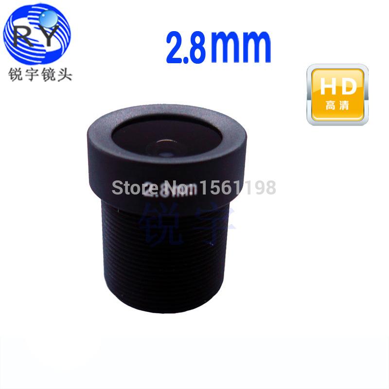 2pcs/lot, CCTV Board Lens 2.8mm 2MP 2 megapixel MTV IR CCTV Lens HD camera M12 Mount For 720P / HD 1080P IP Camera(China (Mainland))