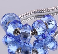 5PCS 925 sterling silver DIY thread Murano Glass Beads Charms fit Europe pandora Bracelets necklaces  /gmbapdia gznapqua F380
