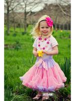 fast shipping newborn babys tulle pettiskirt tutu cute pink 2 layers latest designer fashion infants festival skirt 2015